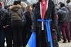 Активистка Евромайдана выражает свое отношение к ночным событиям
