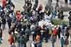 Вторая точка питания митингующих возле памятнику Жертвам голодомора
