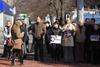 горожане пришли с плакатами в поддержку Надежды Савченко
