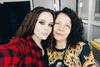 Юлия Санина с мамой