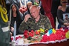 церемония отпевания погибшего командира 3-го батальона 72-й бригады Андрея Жука