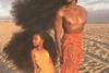 Отец и дочь покоряют фэшн-индустрию благодаря огромной копне волос
