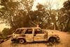 Последствия лесных пожаров в Калифорнии