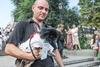 В Одессе Дюка обрядили в вышиванку