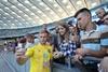 открытая тренировка по футболу сборной украины