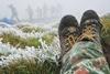 первый снег в украине