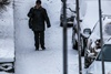Киев засыпает снегом