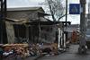 рынок после пожара возле метро Лесная