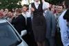 Юлия Тимошенко прибыла на вертолете в затопленный город Могилев-Подольский