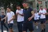 Футболисты сборной Украины прогулялись по Днепру перед матчем с Нигерией