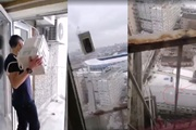 Свидетель  запуска микроволновки  в Днепре:  Печка упала с 24-этажа и разбилась вдребезги