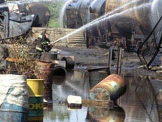 Во Львове горели цистерны с бензином