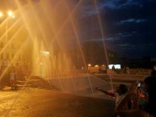 В городе появились два новых фонтана и огромная клумба
