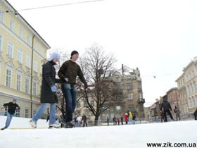 Где в городе покататься на коньках