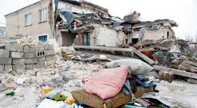 Запорожцы будут жить в разрушенном доме
