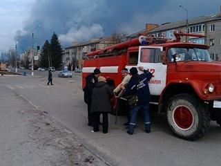 Ночью в Киеве на Оболони сгорел АТБ