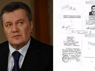 В интернете за 450 евро продают заверенную копию паспорта Януковича