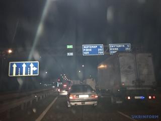 Из-за смертельной аварии на трассе Киев-Чоп образовалась многокилометровая пробка