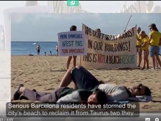 Жители Барселоны вышли на протест: надоели туристы