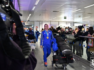 Как олимпийского чемпиона Абраменко встречали в аэропорту Борисполя