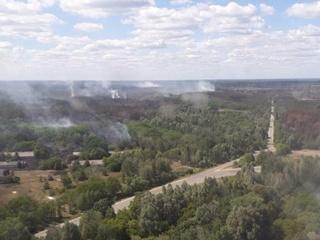 Пожар в Чернобыле потушили