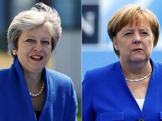 На саммит НАТО Меркель и Мэй прибыли в почти одинаковых жакетах