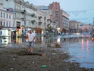 Азиатские мотивы  киевского урагана: климат изменился - если вода, то много и сильно, если солнце – ярко и горячо