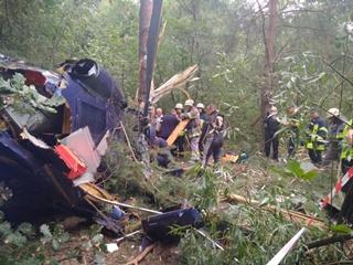 В Киеве на Трухановом острове упал частный вертолет