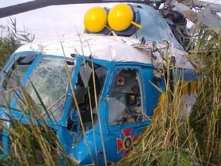 В Харьковской области разбился спасательный вертолет