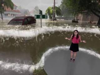 Жители США в шоке от просмотра прогноза погоды, во время которого ураган Флоренс  поглотил  телеведущую