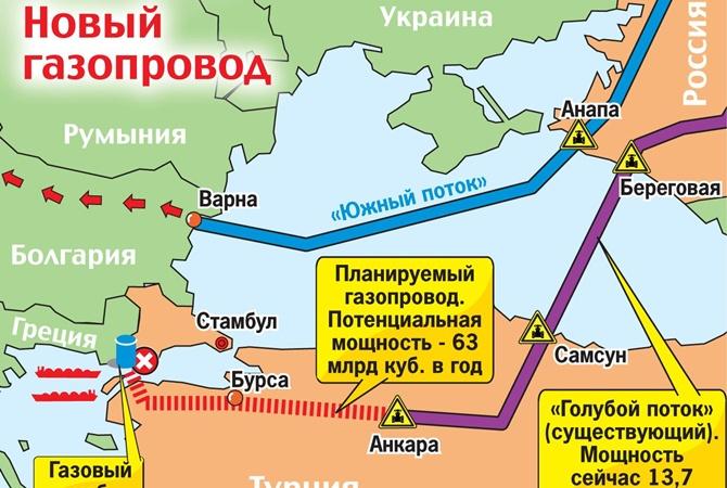 Строительство «Южного потока» стартовало уже в трех странах