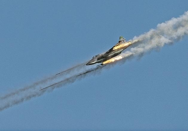 Видео сбитого российского самолета