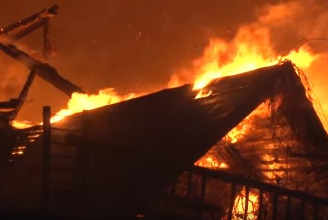 Во Львовской области сгорел ресторан-музей Здание полностью сгорело за полтора часа