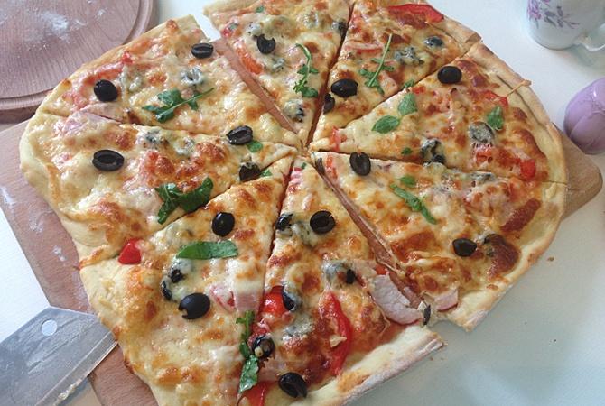 Лучший рецепт тонкой пиццы