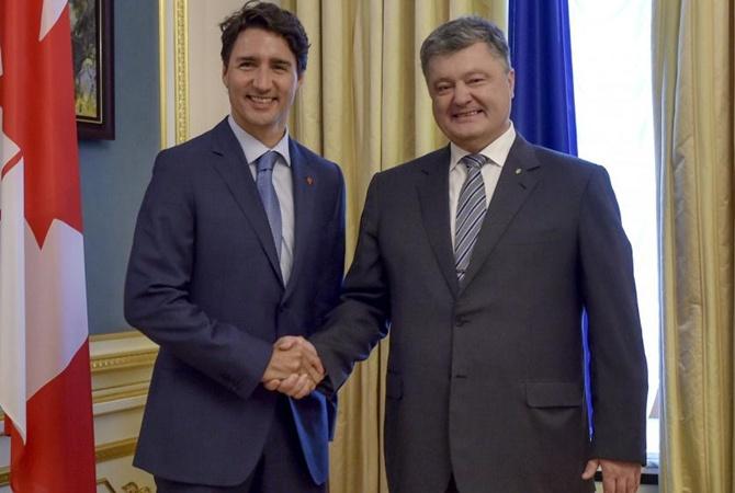 Порошенко договорился овизах вКанаду
