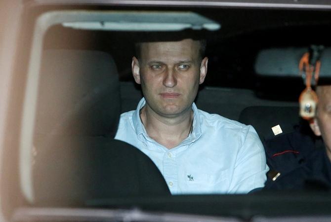 Алексея Навального отпустили из милиции