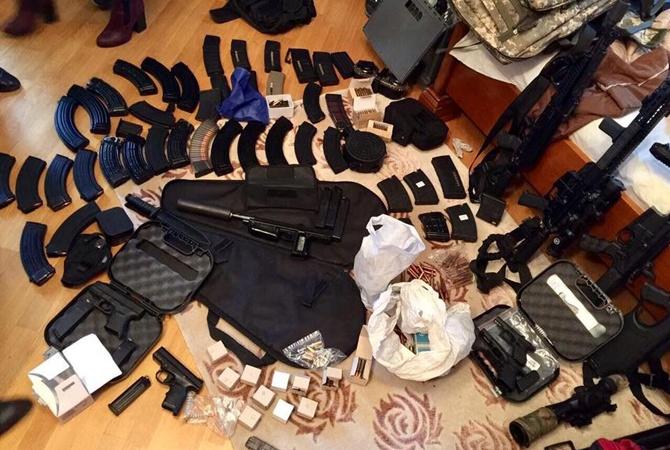 Вквартире вцентре столицы Украины изъяли арсенал оружия