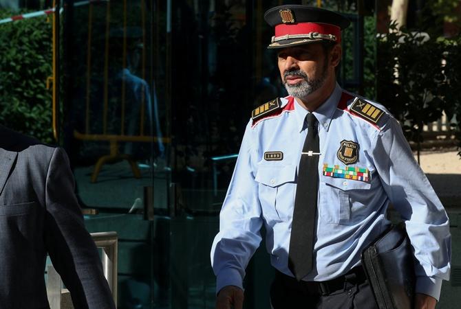 Руководитель каталонской милиции даст показания поделу обеспорядках вБарселоне