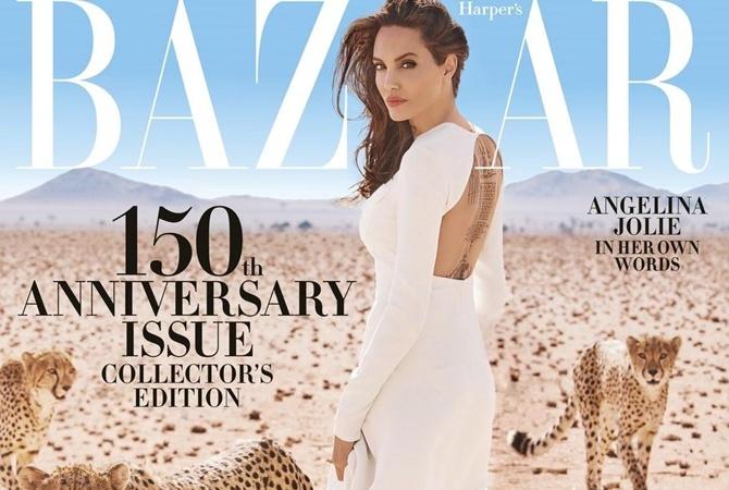 Джоли вокружении хищных животных поведала оправах женщин