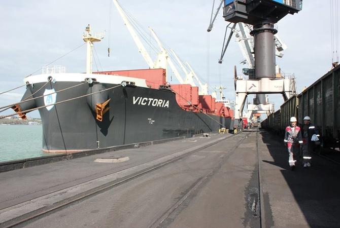 На Украинское государство  прибыло судно «Виктория» со 2-ой  партией угля изсоедененных штатов