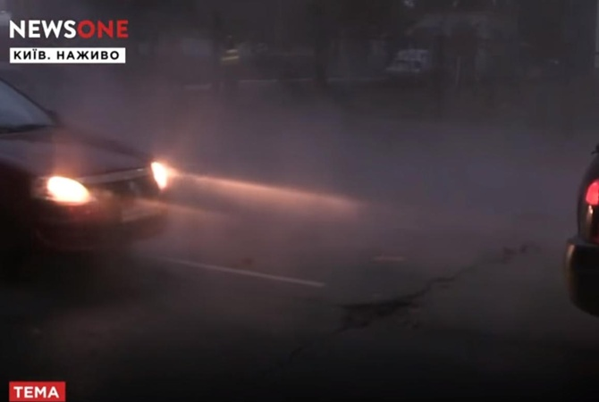 Масштабный порыв теплотрассы: столичные Кардачи «дымят», машины— «плывут»