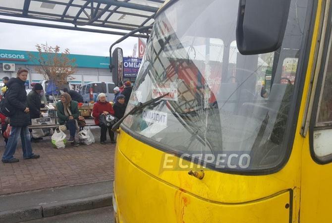 Киевские правоохранители задержали водителя маршрутки, сбившего людей