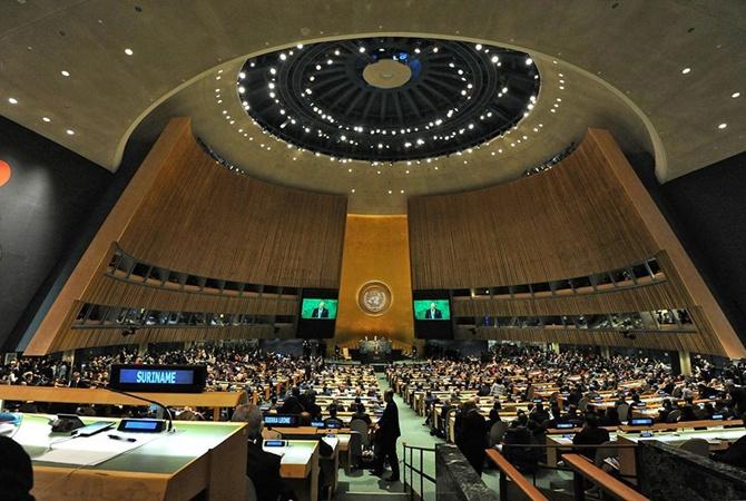 РФ «заставляют» вернуть Крым— «Битва» вмеждународной Организации Объединенных Наций (ООН)