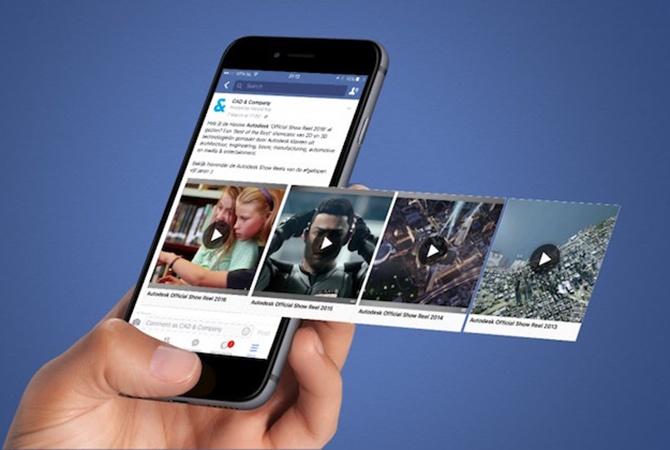 Социальная сеть Facebook представлено приложение для корректирования и эксперты видео