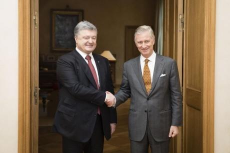 Король Бельгии рассказал Порошенко как спал на полу в одной из квартир Киева
