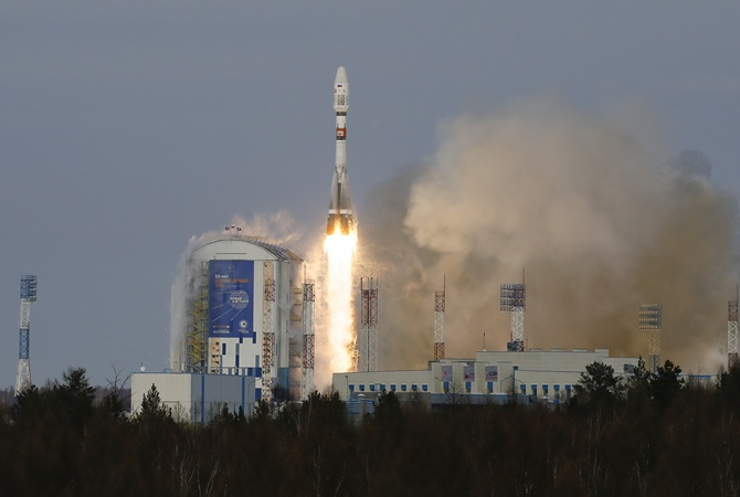 Ракета «Союз» стартовала скосмодрома Восточный