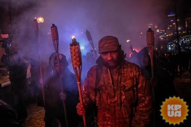 ВКиеве милиция задержала четырех участников факельного шествия