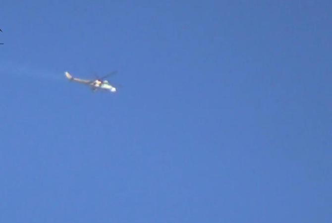 ИГпоказало разрушение русского вертолета Ми-24 вСирии