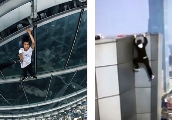 Видео смертоносного падения самого известного руфера Китая появилось вглобальной паутине