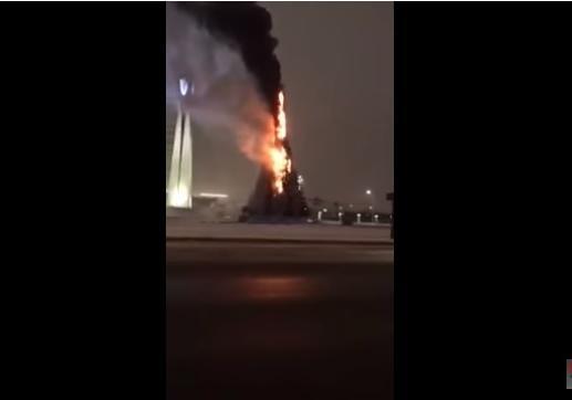 ВАстане сгорела главная городская елка